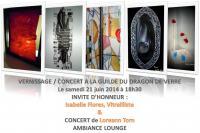 La Guilde fête la musique : Vernissage / concert!! , ariane chaumeil Ar'Bords Essences - A la Guilde du Dragon de Verre