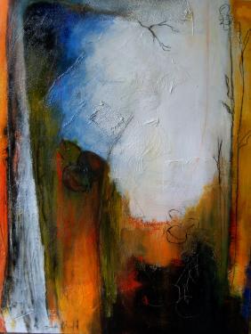 paysage n°52-techniques mixtes sur toile-100 x 81 Non encadrée