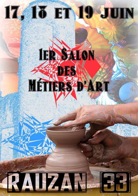 Actualité de NATHALIE COUTENAY NATHALYNE 1er Salon des Métiers d'Art de Rauzan (33)
