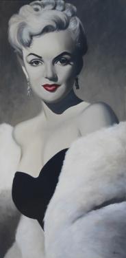 Huile sur toile  100x50 cm: Marilyn jeune (1).
