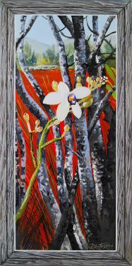 N°31 Orchidée du sud Huile sur toile 80X40