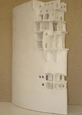 Porcelaine chamottée H 60 cm