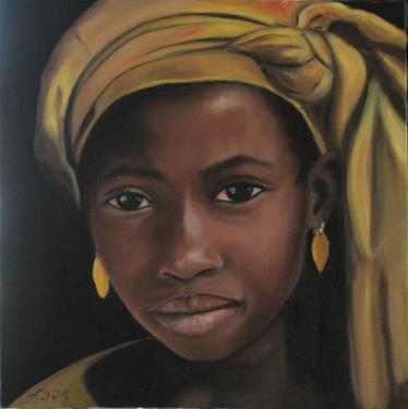 Huile sur toile 30x30 cm: Tahira