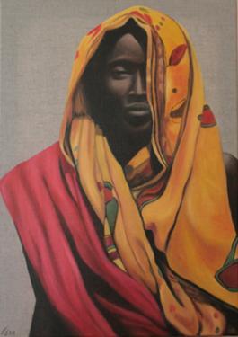 ANANI  huile sur toile  70x50 cm