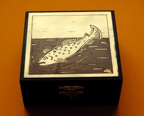 Boîte à secret la Truite 10x10x4h