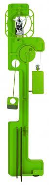 Horloge de Parquet: POP UP Skeleton Vert Pomme.  Mouvement mécanique (clé, poids, balancier)à remontage manuel, corps en composite (résine, papier kraft) de 10 mm d'épaisseur, hauteur  2,00 m, largeur 0,50 m, réserve de marche 10 jours.   Après les imposantes de bois, les élégantes d?inox et les époustouflantes en verre acrylique, UTINAM Besançon présente les détonantes POP UP. Elles viennent étoffer la grande famille des horloges comtoises, trois fois centenaires, revues et sublimées par Philippe LEBRU, designer et explorateur de temps.  Série de 8 pièces seulement numérotées