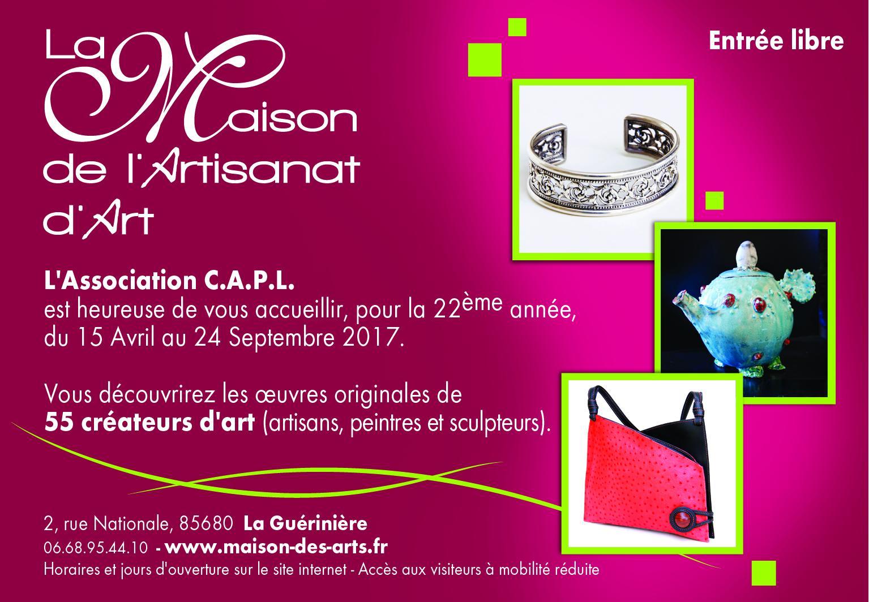 Actualité de Mireille NICOU C.A.P.L.  La Maison de l'Artisanat d'Art