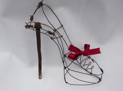 Sculpture soulier Cendrillon Sissi brin d'acier