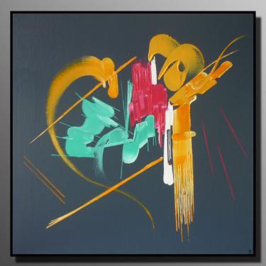INNOCENCE Taille : 50x50 Peinture abstraite   Acrylique au couteau/pinceau Toile sur ch�ssis bois Cotation Drouot Site officiel : http://www.mapeinturesurtoile.com Prix : me contacter