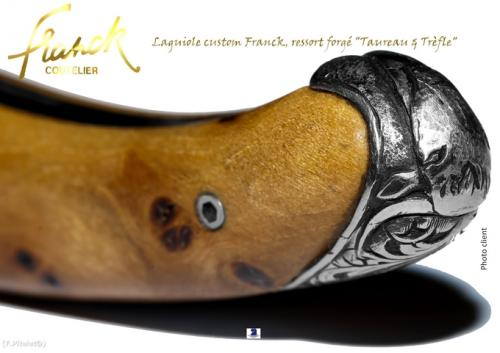 Laguiole custom Franck, ressort coquille forg� main
