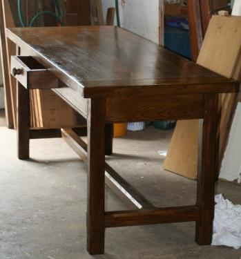 copie table de ferme en ch�ne