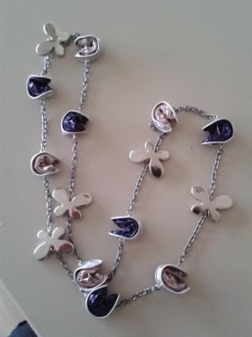 Sautoir rose et violet