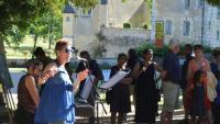 Actualité de Festival des Arts Plastiques de Besse sur Braye  Festival de Courtanvaux ARTICLE DE OUEST FRANCE AU VERNISSAGE 2019