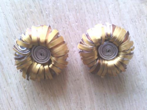 Boucles d'oreilles clip or