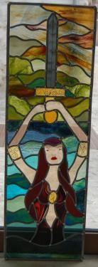 Dame du lac, création au plomb (photo prise avant pose)