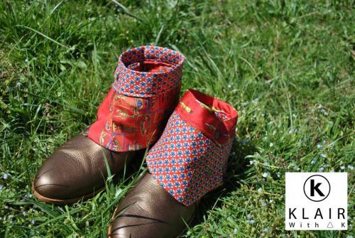 une paire de guêtre unique faites à partir de textile recyclé chaque paire est unique demandé les couleurs qui vous intéressent par email celle-ci est vendue merci