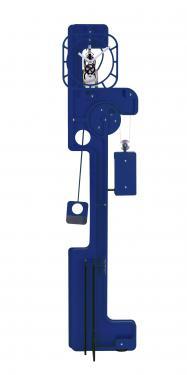 Horloge de Parquet: POP UP Skeleton Bleu.  Mouvement mécanique (clé, poids, balancier)à remontage manuel, corps en composite (résine, papier kraft) de 10 mm d'épaisseur, hauteur  2,00 m, largeur 0,50 m, réserve de marche 10 jours.   Après les imposantes de bois, les élégantes d?inox et les époustouflantes en verre acrylique, UTINAM Besançon présente les détonantes POP UP. Elles viennent étoffer la grande famille des horloges comtoises, trois fois centenaires, revues et sublimées par Philippe LEBRU, designer et explorateur de temps.  Série de 8 pièces seulement numérotées