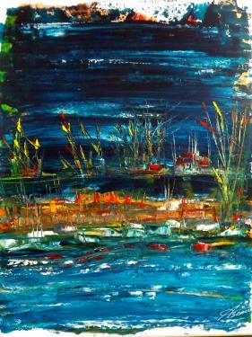bleu nuit (50x40 cm)