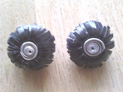 Boucles d'oreilles clip noires