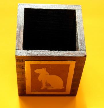Bastet Pot � crayons 6,5x6,5x8h
