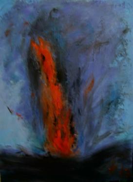 Le cri de la terre, II. (triptyque), huile sur toile