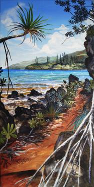 N°16 Sentier Baie de Prony Acrylique sur toile 100 X 50