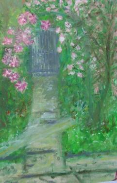 Le jardin, huile sur toile