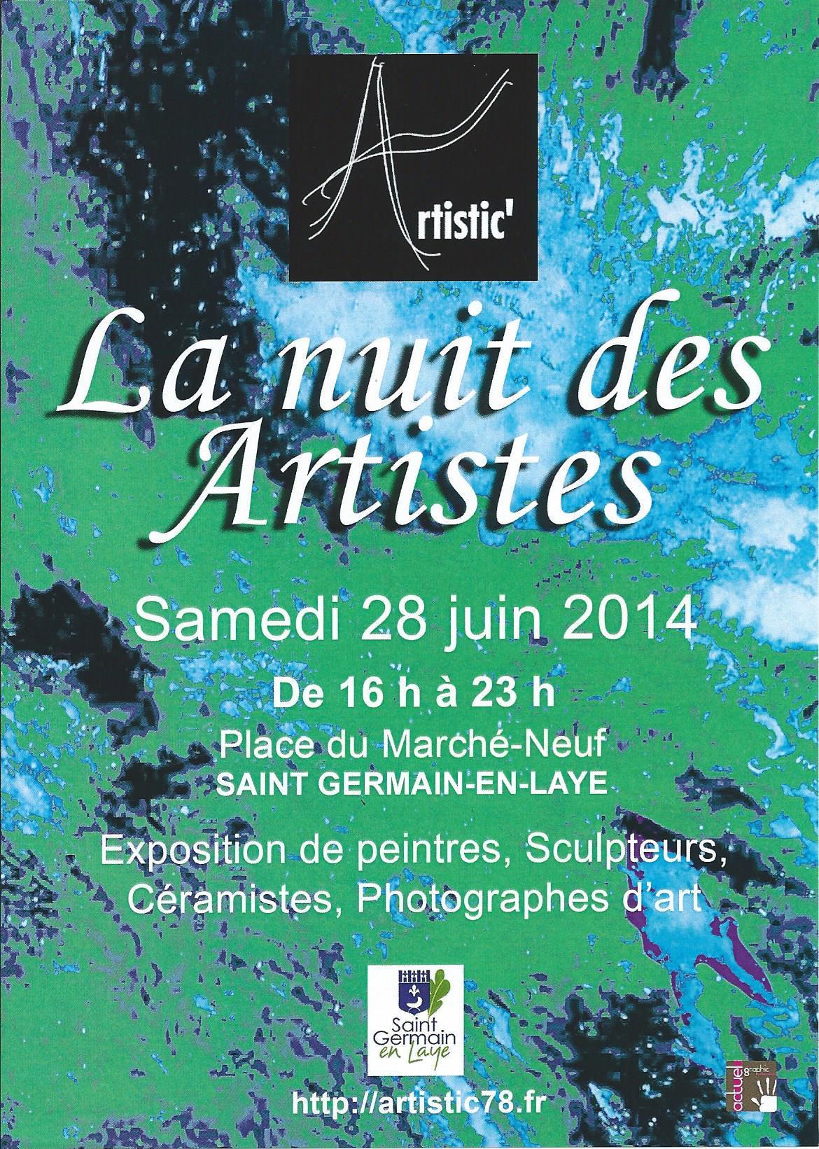 Actualité de Pascale Gillard La Nuit des Artistes à St-Germain-en-Laye