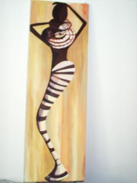 Verso:tableau sur châssis toilé et peinture acrylique