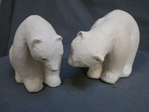 Ours blancs ,exposés Atelier des Loys...Vendus