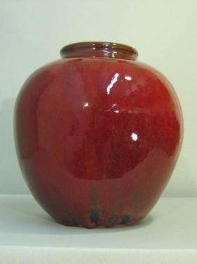 vase, rouge de cuivre