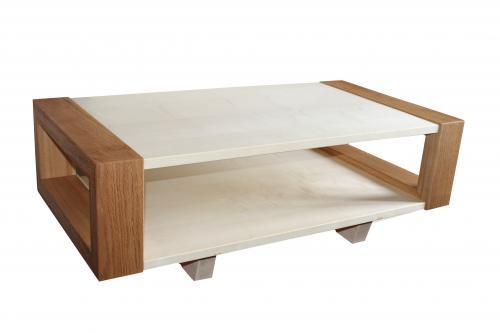 BICOLORE table basse en chêne sablé et sycomore