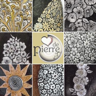floral painting details