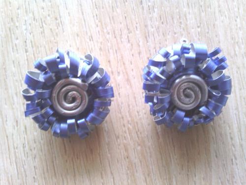 Boucles d'oreilles clip bleues