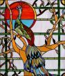 Vitrail en verres colorescents en remplacement des briques de verre