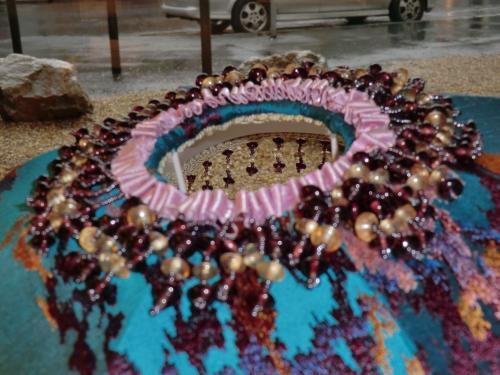 Vue de dessus du Dome Ruban en frise et Perles en haut du Dome
