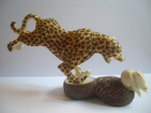 guepard (pyrogravure)