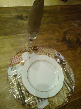 description set de table garniture foin
