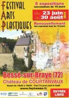 FESTIVAL D'ARTS PLASTIQUES BESSE SUR BRAYE , NICOLE BOURGAIT THIERRY LE SET DES FLEURS