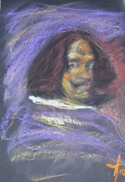 Diego Vélasquez, d'après l'autoportrait, pastels