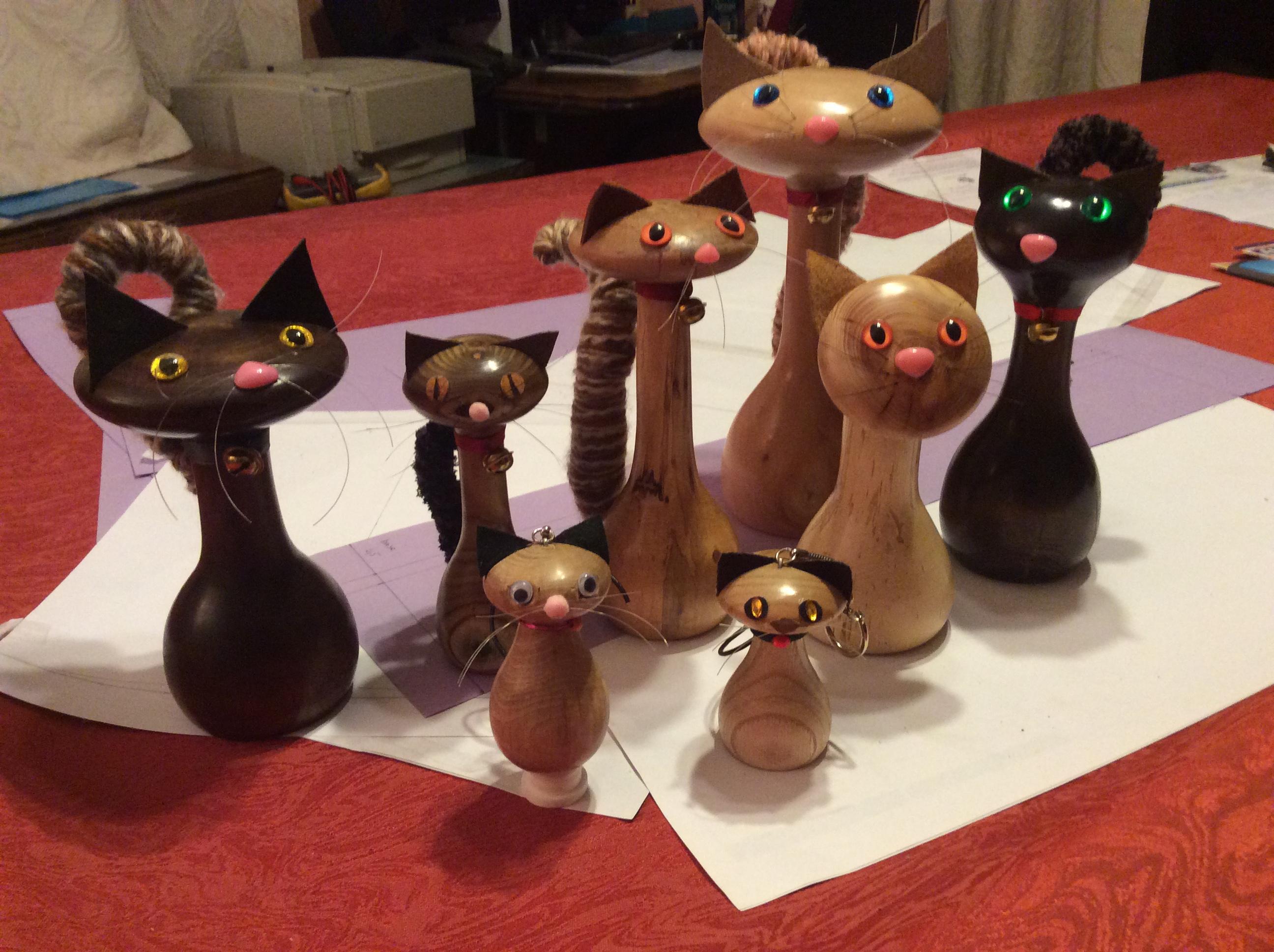 Actualité de Les Lampes d'Annick Finitions des chats