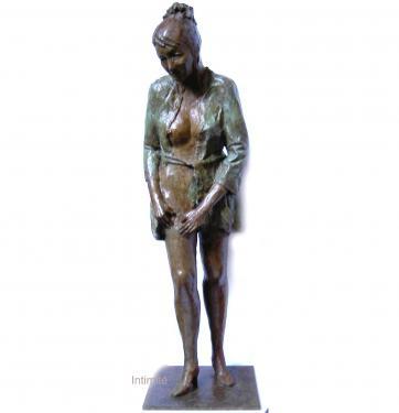 Intimité  bronze Patine bicolore 57x17x17 cm