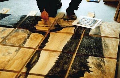 réalisation d'un Assemblage en Lave Emaillée - photo d'atelier