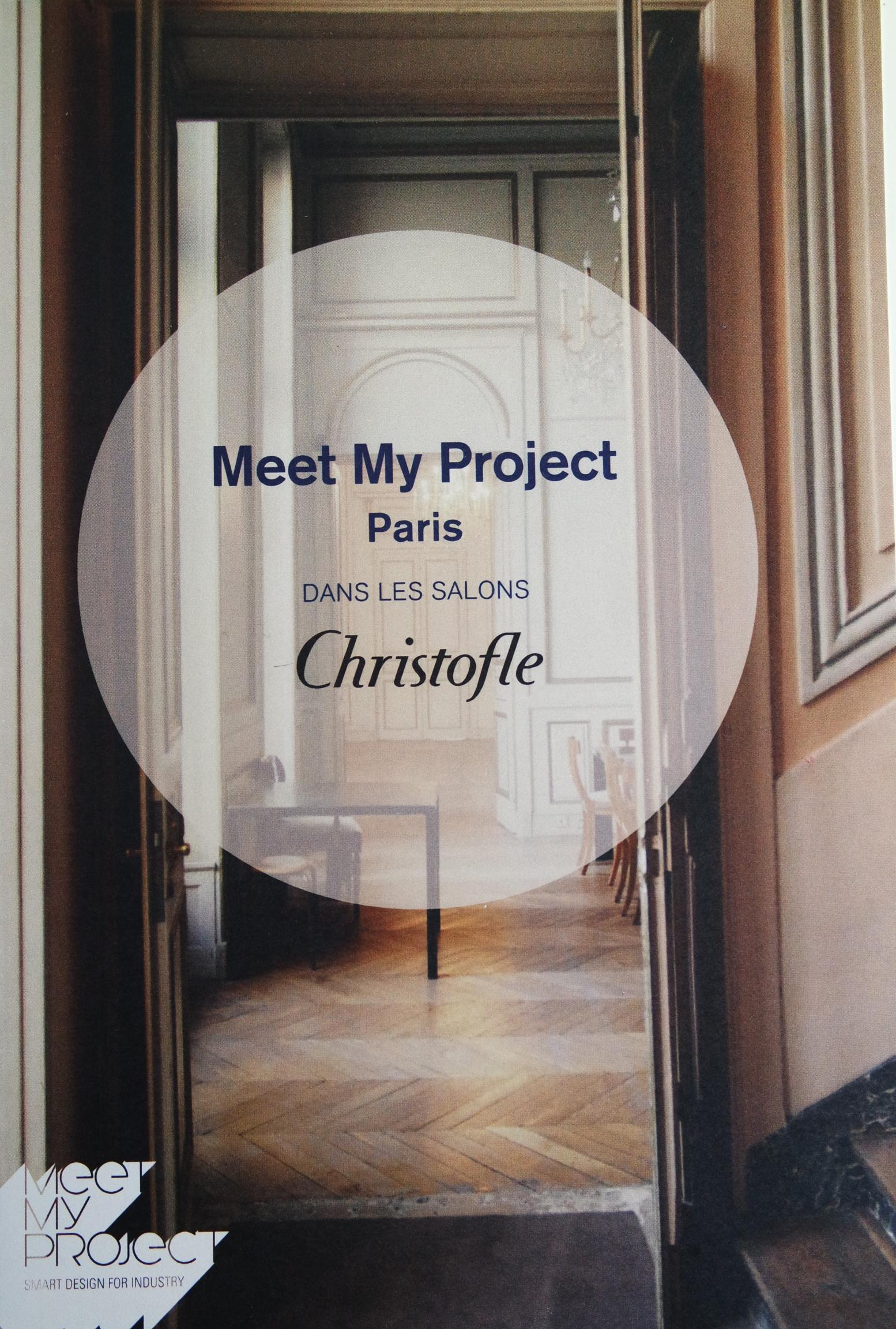 Actualité de Fabienne Saligue Maison FEY MEET MY PROJECT dans les salons CHRISTOFLE