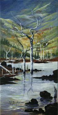 N°14 Chêne-Gomme Acrylique sur toile 31 X 61