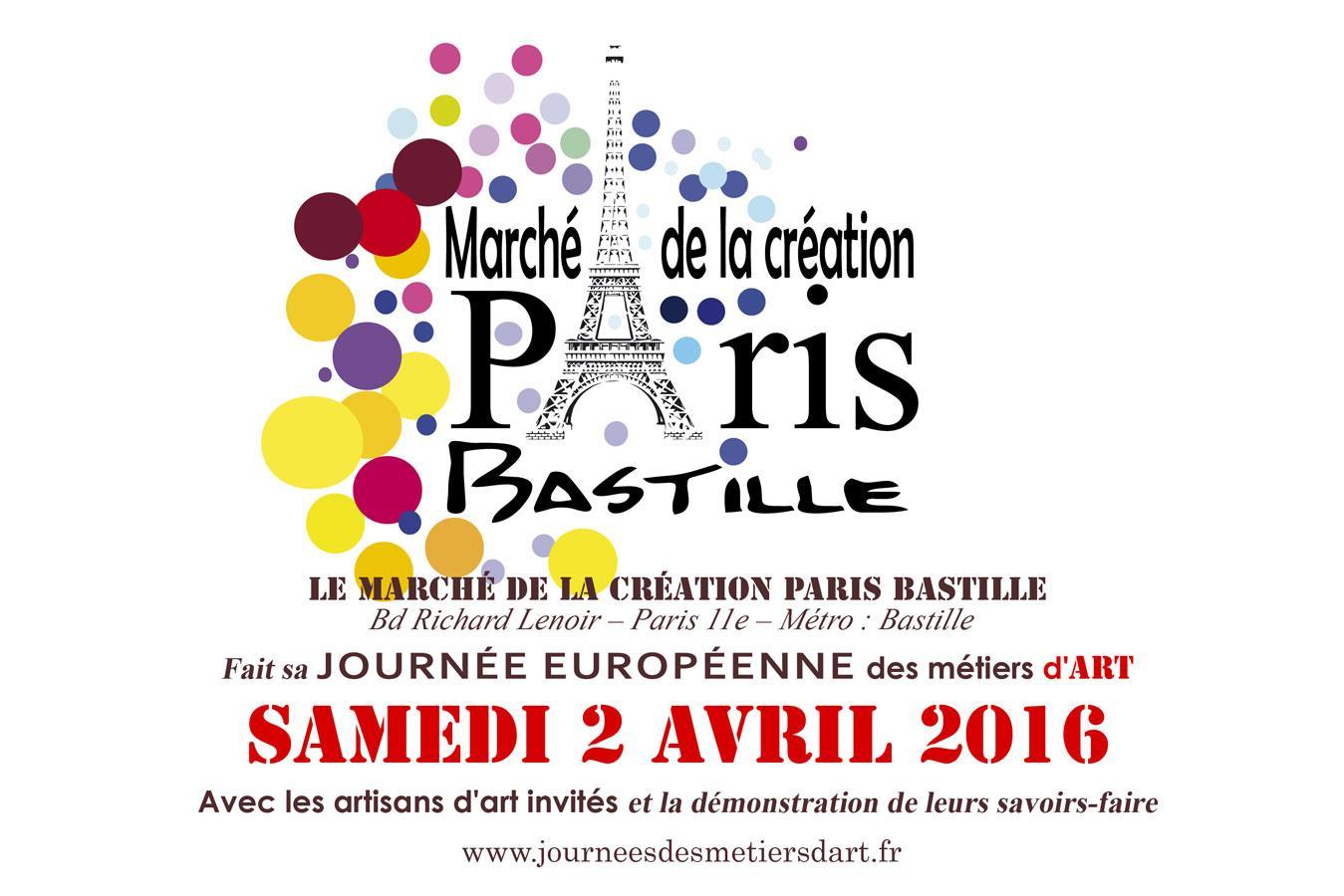 Actualité de Marie-Lucie SCIARLI Association Initiatives Solidaires Marché de la Création Bastille Journées Européennes des Métiers d'Art