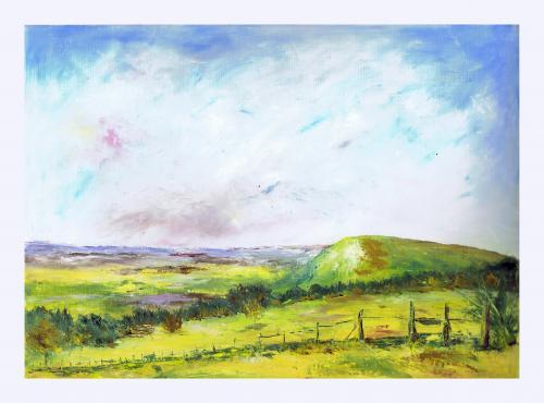 30 x 40 paysage huile sur papier toilé