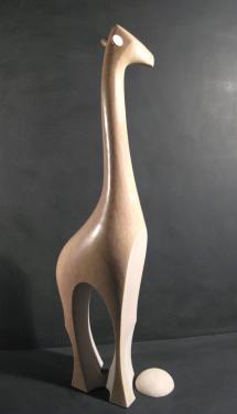 Girafe pierre de Chassagne H:80 cm