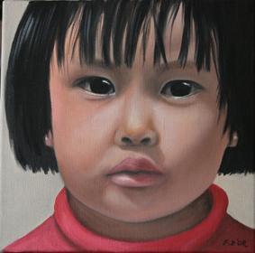 Huile sur toile 30x30 cm: Asia