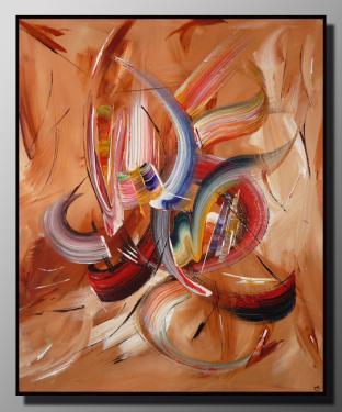 VISION Taille : 46X55 Peinture abstraite   Acrylique au couteau/pinceau Toile sur ch�ssis bois Cotation Drouot Site officiel : http://www.mapeinturesurtoile.com Prix : me contacter